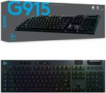 Logitech G915 Wireless Mechanical Gaming Keyboard - GL: Linear $251.10 / Tactile $260.10 Delivered @ Amazon AU