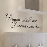 """""""Dream until Your Dreams Come Ture"""" Textual Style Wall Decor $3.98 USD + Free Shipping"""