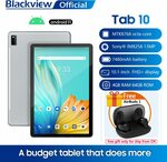 """Blackview Tab 10 & AirBuds TWS Earphones (Android 11, 10.1"""", 4GB/64GB) US$160.99 (~A$222.51) Delivered @ Blackview AliExpress"""
