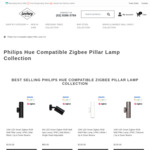 15% off Hue Compatible Smart Outdoor Pillar Lights / Spot Lights   ZigBee   From $72.25 Delivered @ Lectory