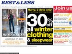 30% off Winter Clothing & Sleepwear at Best & Less