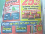Buy 1 Get 1 Free $20 iTunes Cards at Harvey Norman. Starts Today till 17 Dec