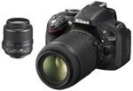 Kogan: Nikon D5200 DSLR Camera with 18-55mm & 55-200mm VR Kit Free Shipping $729