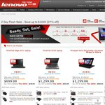 Lenovo ThinkPad 2 Day Flash Sale - Save up to $1000 (37% off)