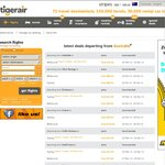Tiger Air $12 Fares on Selected Routes Selected Days