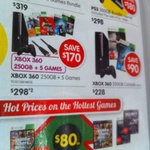 XBOX 360 250GB + NFS: Rivals + Battlefield 4 + Halo 4 + Tomb Raider + Red Dead + HDMI $298 @ DSE