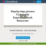 Growth Hacking - Learn by Doing $249 Online Marketing Course for Free