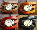 Vintage Style leather Wrap Watch One for $12 or Two for $16 Free Delivery from perlamoda.com.au