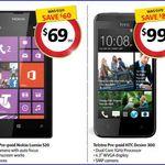 Telstra Nokia Lumia 520 $69 (Save $60) & HTC Desire 300 $99 (Save $80) @ Coles 26/12