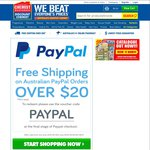 Chemist Warehouse - Free Shipping on Any Australian PayPal Orders over $20