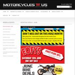 Motorcycles R Us: EOFY One Day Sale - All Accessories & Parts At Cost + 10% (Underwood, QLD)