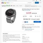 Motorola Moto 360 Steel Smart Watch - Silver 100% AU Stock $229 (RRP $425) @ Mobileciti eBay