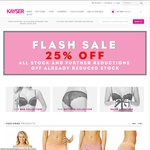 Kayser Lingerie - 25% All Stock (Incl Sale Items)