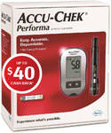 Accu-Chek Performa Blood Glucose Meter (Diabetes Only) Free (after $40 Cash Back) - Chemist Warehouse