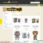 [50% off] Funko Pop Vinyls Sale - $9.50 + $7.99 Flat-Rate Ship @YellowOctopus.com.au