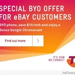 5GB of Data, Unlimited Text and $1000 of Calls for $40/Mth (12Mth BYO Contract) + Bonus Chromecast @ Telstra