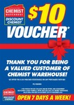 Chemist Warehouse: $10 off $50+ Purchase [In-store Only]