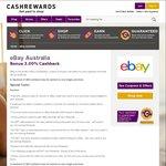 3% Cashback (Was 1.25%) @ eBay Via Cashrewards