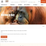 Free Entry for Mums on Mother's Day (14/5) @ Perth Zoo