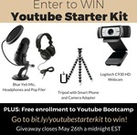 Win a Webcam, Microphone, Headphones and Tripod from Trena Little (YT)