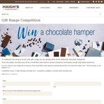 Win 1 of 3 Small Milk & Dark Selection Hampers from Haigh's
