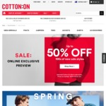 Cotton On - $25 Jeans (Were $49.95) and Other Items Reduced