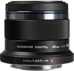 Olympus M.zuiko Digital 45mm F/1.8 Lens (Black) Micro Four Thirds, $99USD + $13.26USD Shipping (~ $150AUD Total) from B&H