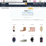 Free Shipping to Australia for Select Clothing, Shoes & Handbags (Min Spend $150 USD) - if Shipped and Sold by Amazon