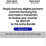 Samsung - Gear Sport 2018 + Gear Icon X 2018 $549 ($249 off) by Paying with Eligible Card Using Samsung Pay