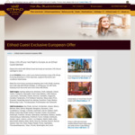 10% off Etihad Airways - Select Destinations in Europe