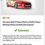 10 Cents off Per Litre of Shell V-Power Petrol or Diesel @ Shell Coles Express (Flybuys Members)