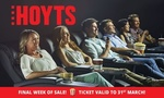 Extra 10% off Groupon Hoyts Cinema Deal  + Further 7% Cashback e.g. Adult Ticket $9 @ Shopback