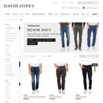 [Online + In-Store] 25% off $150+ Transaction on Men's Denim Nudie, G-STAR, Levi's, Neuw Denim, CK Jeans & Mavi @ David Jones
