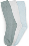 3 Pack Crew Socks Shades of Mist: $2.99 (Was $8) & More Socks for Clearance @ Rivers Free C & C