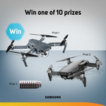 Win 1 of 2 DJI Mavic Drone x Samsung SD Card Bundles or 1 of 8 Samsung SD Cards from Scan