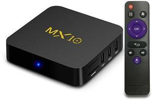 MX10 Android 8 1 4K TV Box (RK3328, 4GB RAM, 32GB Storage