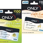 Only1 Branded VISA $100 Gift Card - $100 @ Woolworths (Save $5.95)