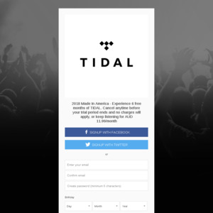 Free 6/3 Month Trial of TIDAL Music Premium/HiFi (From Made