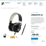 Sennheiser Urbanite XL (Sand Colour) Over-Ear Headphones for iPhone/iPad/iPod $109.95 Delivered (RRP $299.95) @ Sennheiser