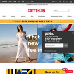 Free Shipping No Minimum Spend @ Cotton On