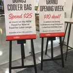 [WA] $10 for Coke 2×600ml+Maltesers 140g+Red Rock Deli 165g, Cooler Bag with $25 Spend on Food Now @ Coles Central Raine Square