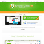 Kiwi For GMail 2.0 (Gmail & Google Apps For Desktop) - 100% Discount For First Year