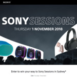 Win a Trip to Sony Sessions in Sydney for 2 Worth $1,300 or 1 of 99 Double Passes Worth $40 from Sony