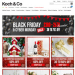 30% to 75% OFF Black Friday & Cyber Monday Deals @ Koch & Co