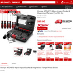 Xtorque XTO48TS 48pce Impact Socket & Magnetised Tamper Proof Bit Set $35.19 (RRP $69) @ SydneyTools (Free Store Pickup)