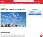 Melbourne Star Observation Wheel Entry Ticket $15 (RRP $32) @ Scoopon