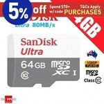 [eBay Plus] SanDisk Ultra 64GB Micro SD Card 2 for $18.55, Xiaomi Mi Power Bank 2s 10000mAh 2 for $37.50 @ Shopping Square eBay