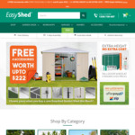 4 Free Accessories with Every Shed Purchase (Excludes Carports / Industrial Range) @ EasyShed.com.au