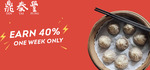 [NSW/VIC] Earn 40% Liven Points at Din Tai Fung (Sydney and Melbourne)