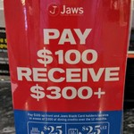 [WA] 13-Month Membership $100 - You Get $25 Monthly Credit for 1 Year & $25 Credit on Your Birthday ($325 Value) @ Jaws Sushi